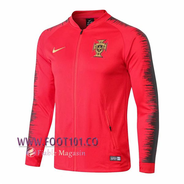 Veste Foot Portugal Rouge/Noir 2018/2019