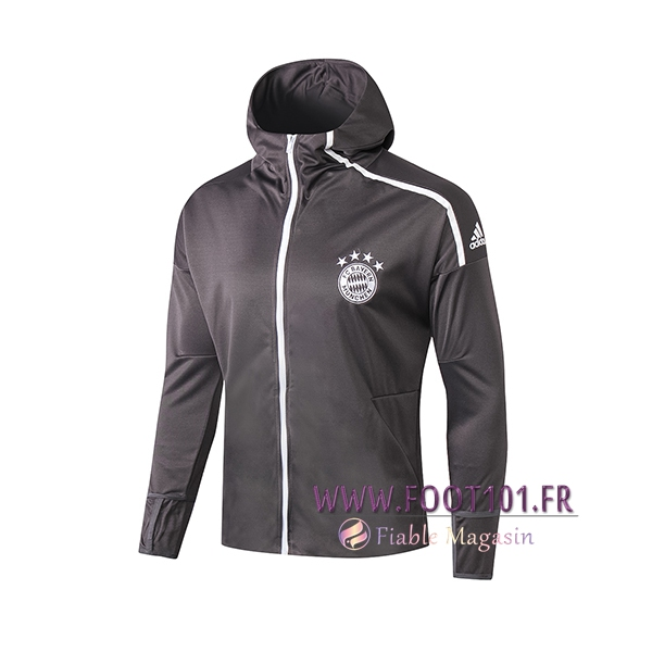 Veste Foot Sweat A Capuchet Bayern Munich Gris 2019/2020