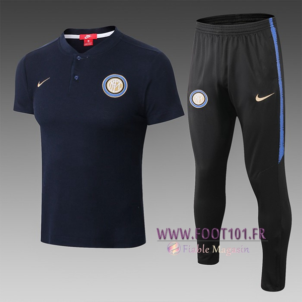 Ensemble Polo Inter Milan + Pantalon Bleu Fonce 2019/2020