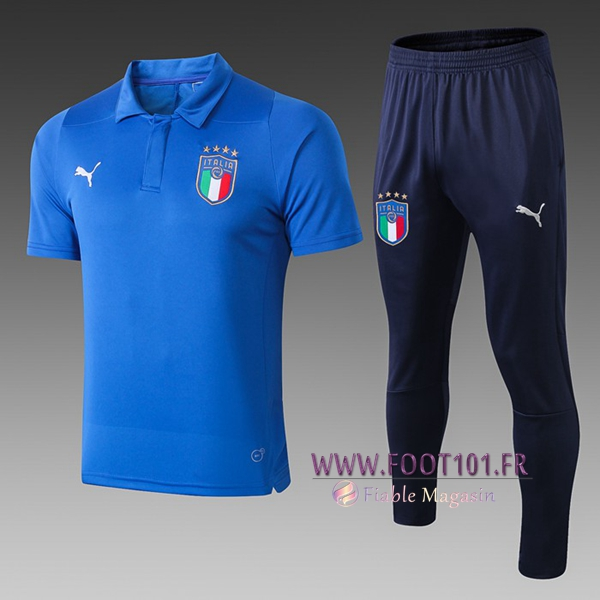 Ensemble Polo Italie + Pantalon Bleu 2019/2020