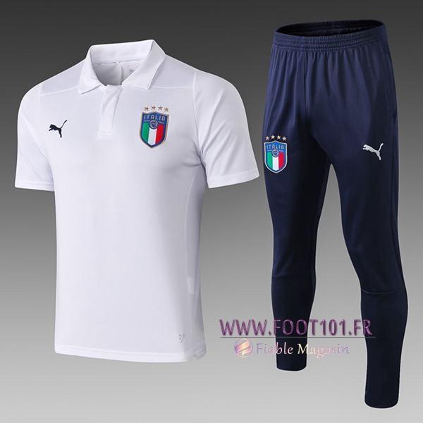 Ensemble Polo Italie + Pantalon Blanc 2019/2020