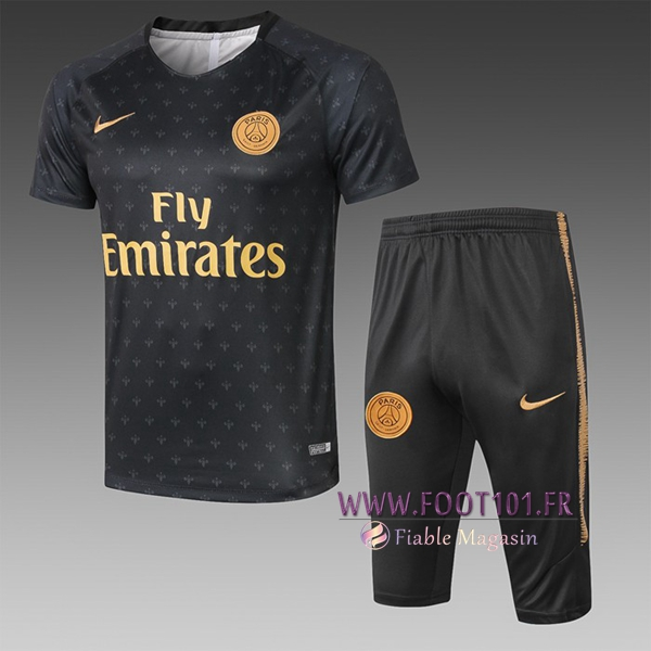 Ensemble PRÉ MATCH Training PSG + Pantalon 3/4 Noir 2019/2020
