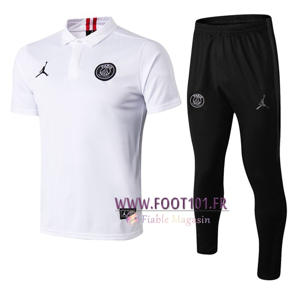 Ensemble Polo Paris PSG Jordan + Pantalon Blanc 2019/2020