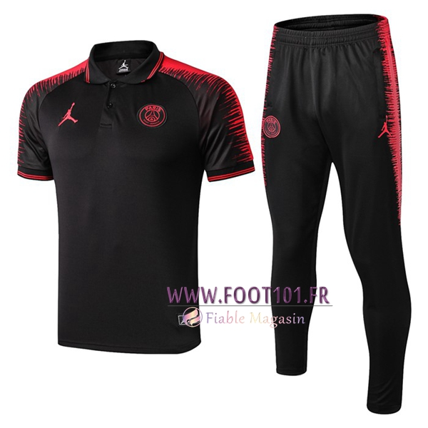 Ensemble Polo Paris PSG Jordan + Pantalon Noir 2019/2020