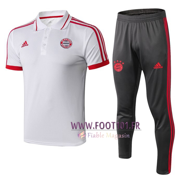 Ensemble Polo Bayern Munich + Pantalon Blanc 2019/2020