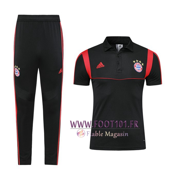 Ensemble Polo Bayern Munich + Pantalon Noir 2019/2020
