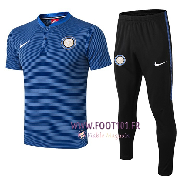 Ensemble Polo Inter Milan + Pantalon Bleu 2019/2020