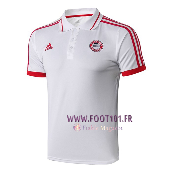 Polo Foot Bayern Munich Blanc 2019/2020