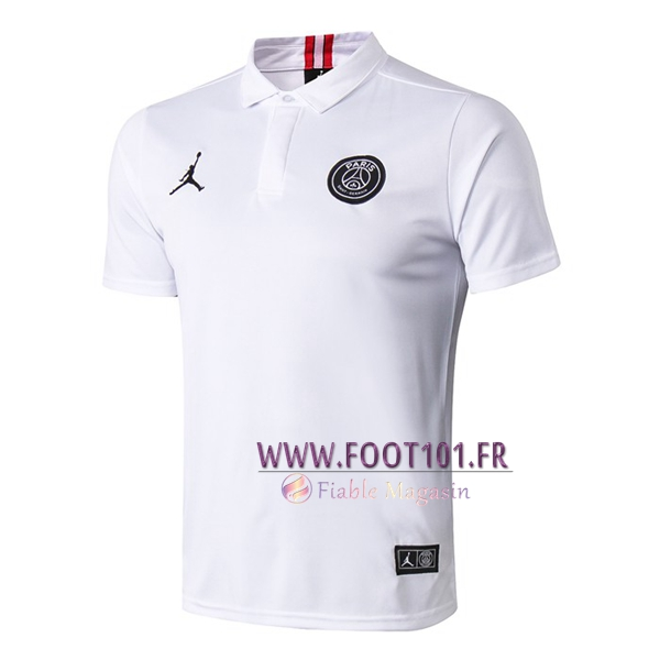 Polo Foot Paris PSG Jordan Blanc 2019/2020