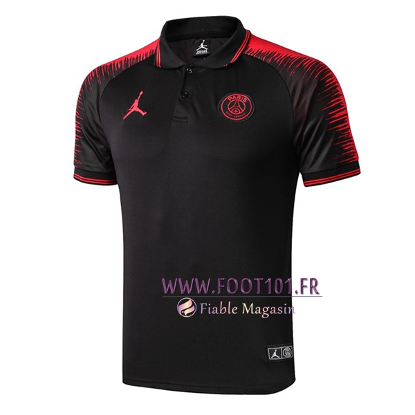 Polo Foot Paris PSG Jordan Noir 2019/2020