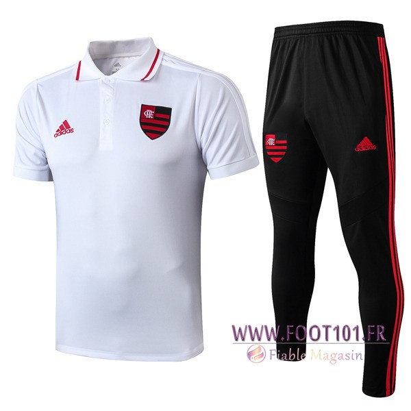 Ensemble Polo Flamengo + Pantalon Blanc 2019/2020