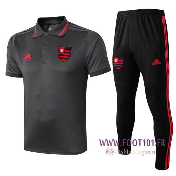 Ensemble Polo Flamengo + Pantalon Gris 2019/2020