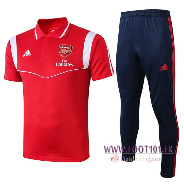 Ensemble Polo Arsenal + Pantalon Rouge Blanc 2019/2020