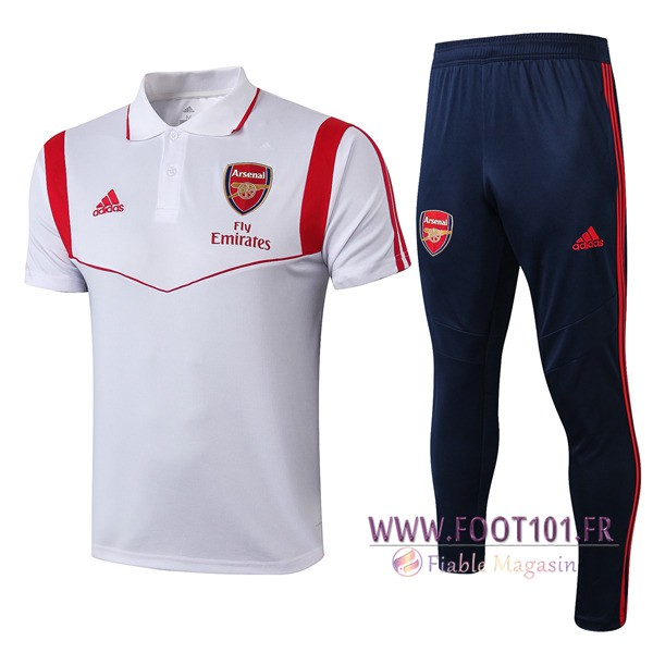 Ensemble Polo Arsenal + Pantalon Blanc 2019/2020