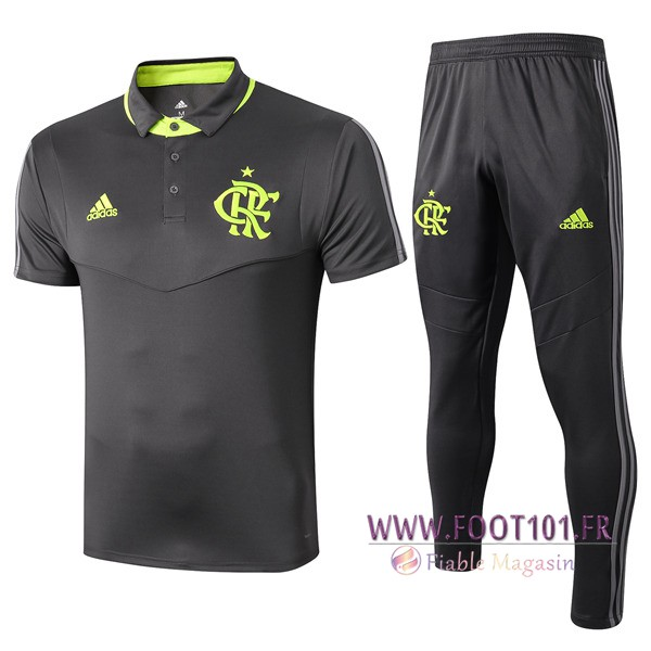 Ensemble Polo Flamengo + Pantalon Gris Fonce 2019/2020