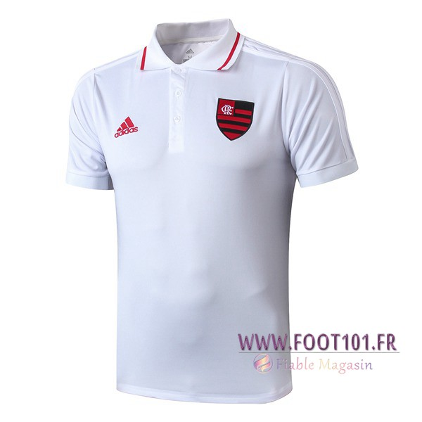 Polo Foot Flamengo Blanc 2019/2020