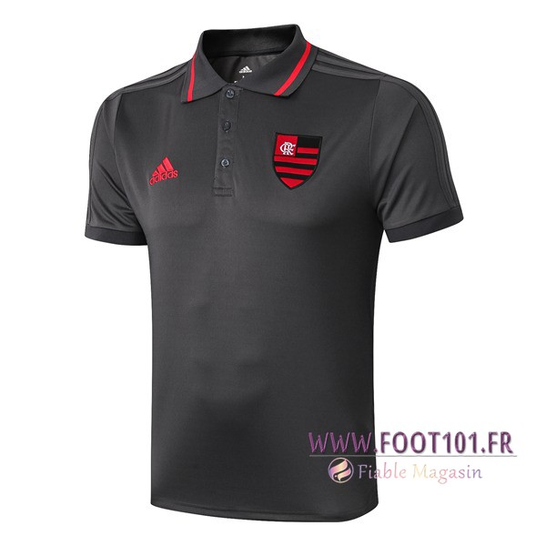 Polo Foot Flamengo Gris 2019/2020