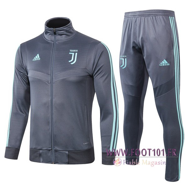 Ensemble Survetement Foot - Veste Juventus Gris 2019/2020