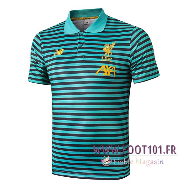 Polo Foot FC Liverpool Vert Stripe 2019/2020