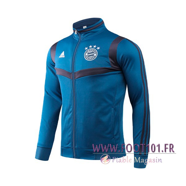 Veste Foot Bayern Munich Bleu Royal Col haut 2019/2020