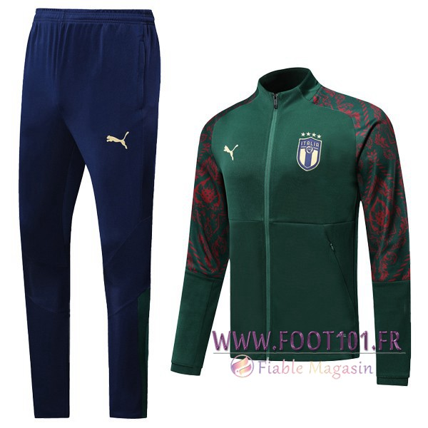 Ensemble Survetement Foot - Veste Italie Vert 2019/2020