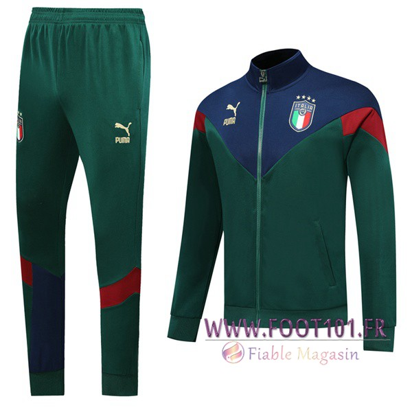 Ensemble Survetement de Foot - Veste Italie Vert 2019/2020