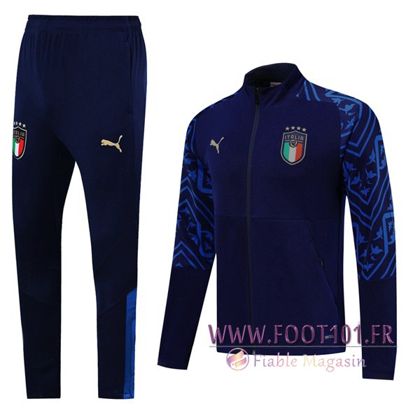 Ensemble Survetement de Foot - Veste Italie Bleu Saphir -2 2019/2020