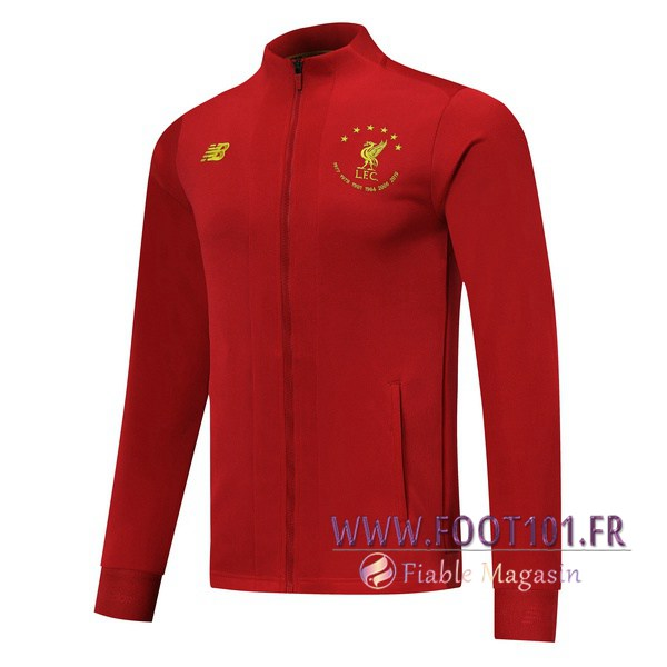 Veste Foot FC Liverpool Rouge Edition commemorative 2019/2020