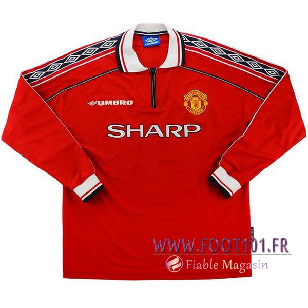 Maillot Foot Manchester United Manches longues Domicile 1998/1999