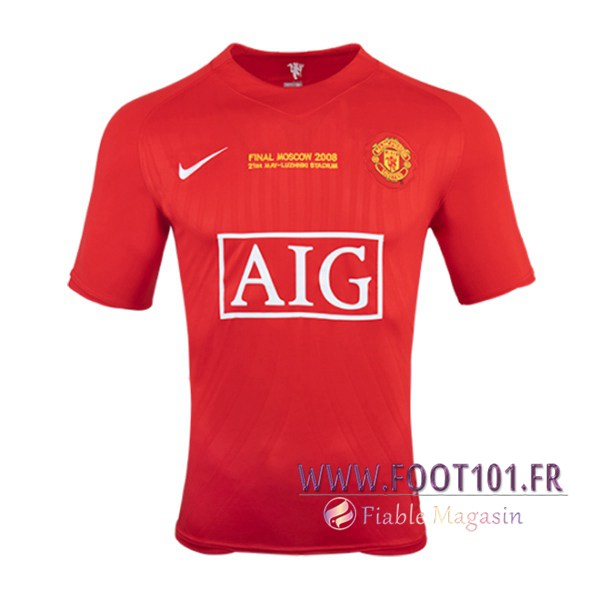 Maillot Foot Manchester United Champion Domicile 2007/2008