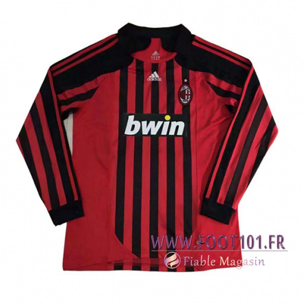 Maillot Foot Milan AC Manches longues Domicile 2007/2008