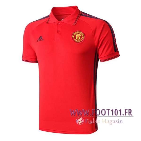 Polo Foot Manchester United Rouge/Noir 2019/2020