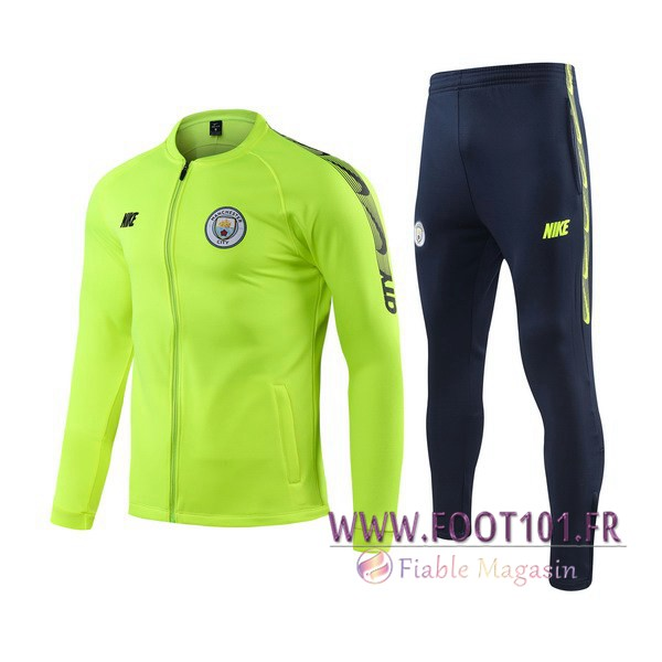 Ensemble Survetement Foot - Veste Manchester City Vert 2019/2020