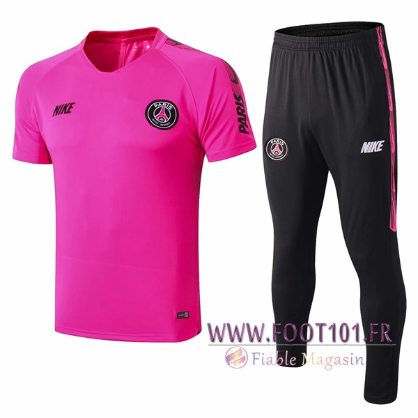 Ensemble Training T-Shirts PSG + Pantalon Rose 2019/2020