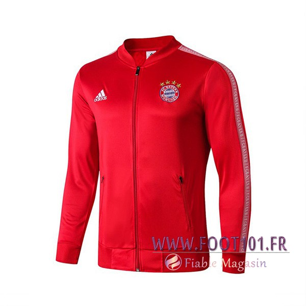 Veste Foot Bayern Munich Rouge Blanc 2019/2020