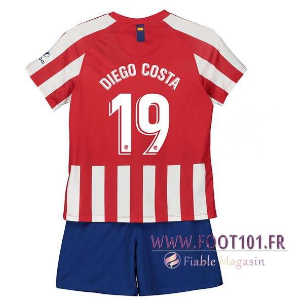 Maillot Foot Atletico Madrid (DIEGO COSTA 19) Enfant Domicile 2019/2020