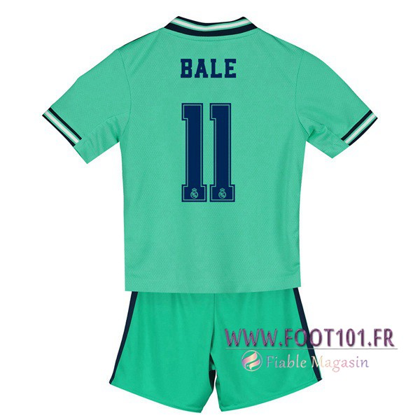 Maillot Foot Real Madrid (BALE 11) Enfant Third 2019/2020