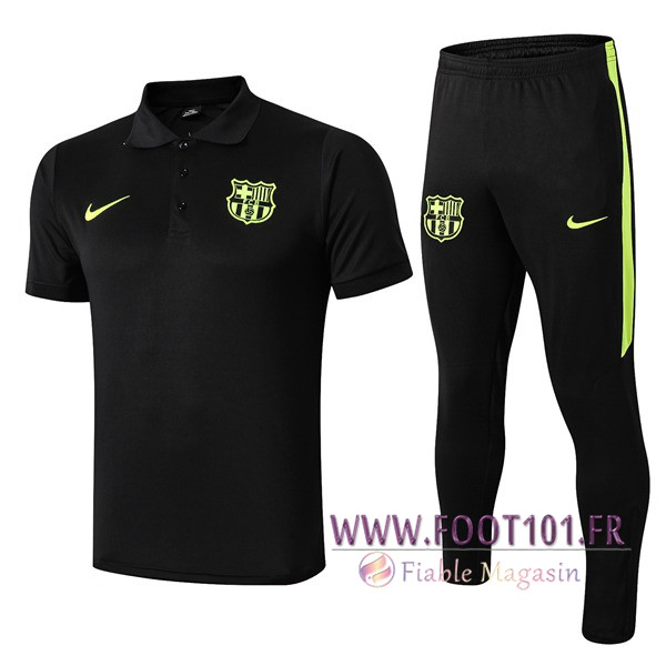 Ensemble Polo FC Barcelone + Pantalon Noir 2019/2020