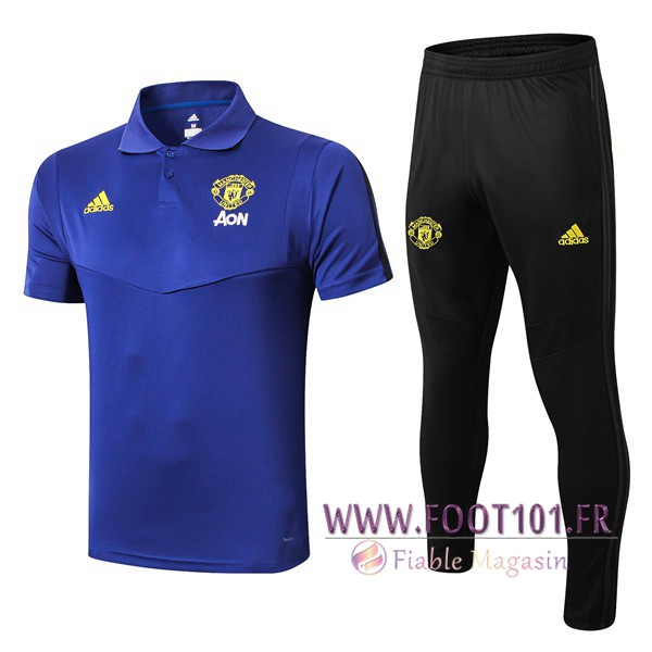Ensemble Polo Manchester United + Pantalon Bleu 2019/2020