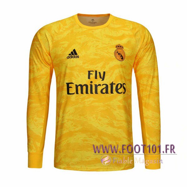 Maillot Foot Real Madrid Gardien de but Jaune 2019/2020