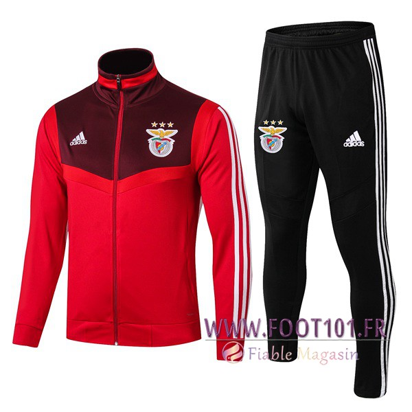 Ensemble Survetement Foot - Veste S.L Benfica Rouge 2019/2020