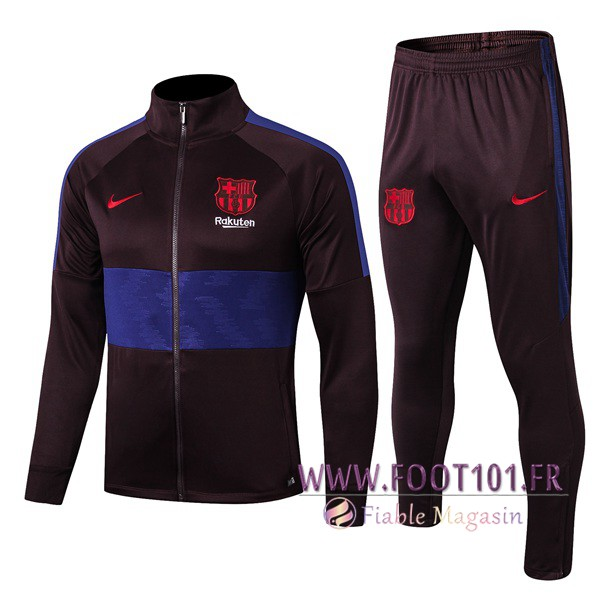 Ensemble Survetement Foot - Veste FC Barcelone Pourpre/Bleu 2019/2020