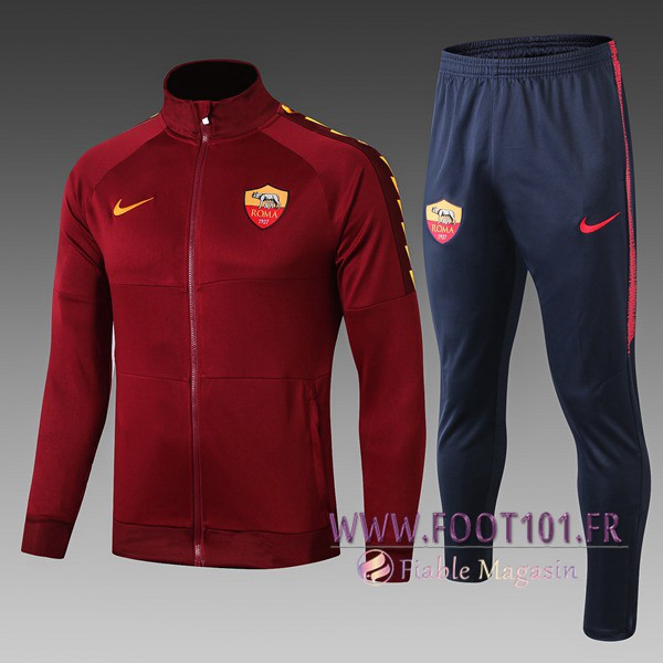 Ensemble Survetement Foot - Veste AS Roma Enfant Brown 2019/2020