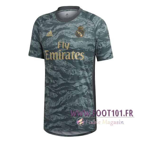 Maillot Foot Real Madrid Gardien de but Gris 2019/2020