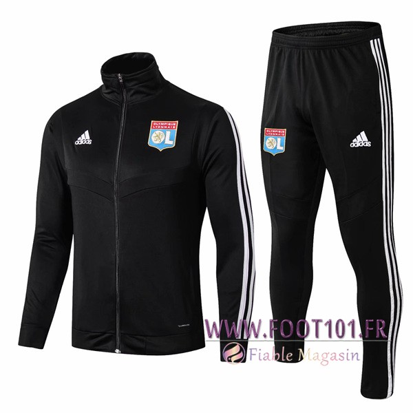 Ensemble Survetement Foot - Veste Lyon OL Noir 2019/2020