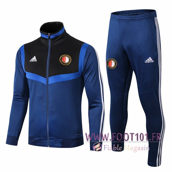 Ensemble Survetement Foot - Veste Feyenoord Bleu/Noir 2019/2020