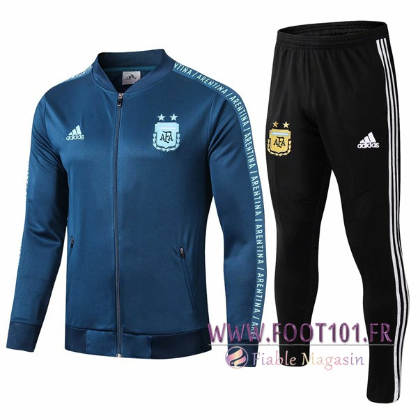 Ensemble Survetement Foot - Veste Argentine Cyan 2019/2020