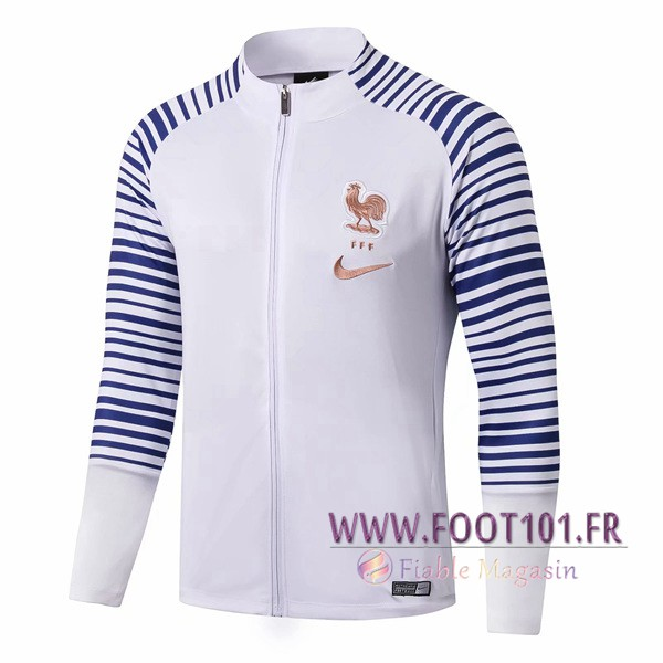 Veste Foot France Bleu/Blanc 2019/2020