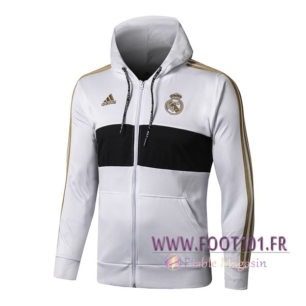 Veste A Capuche Real Madrid Blanc 2019/2020