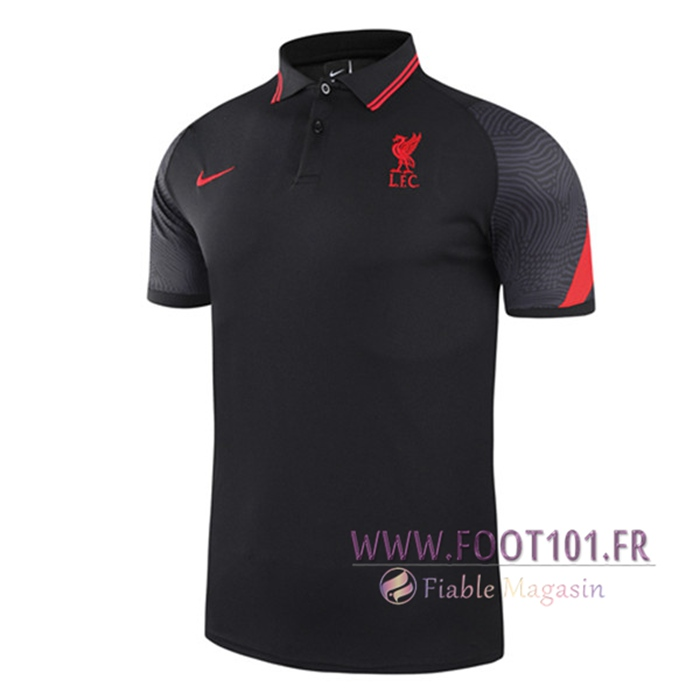 Polo Foot FC Liverpool Noir 2021/2022